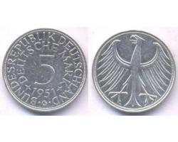 A50732 - NEMAČKA, Federal Republic. 5 DEUTSCHE MARK 1951-G 1
