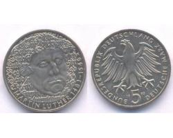 A50754 - NEMAČKA, Federal Republic. 5 DEUTSCHE MARK 1983-G 1