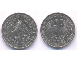 A50756 - NEMAČKA, Federal Republic. 5 DEUTSCHE MARK 1986-D 1