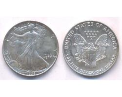 A72804 - USA. 1 OZ. FINE  SILVER DOLLAR 1992 1