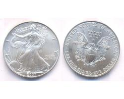 A72819 - USA. 1 OZ. FINE  SILVER DOLLAR 2007 1