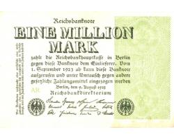 B42432 - GERMANY. 1 MILLION MARK 9.8.1923 1