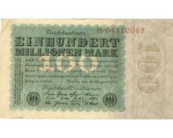 B42450 - GERMANY. 100 MILLION MARK 22.7.1923 1