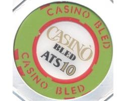 C55530 - Play poker chip, 10 ATS. CASINO BLED 1