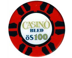 C55533 - Play poker chip 100 öS. CASINO BLED 1