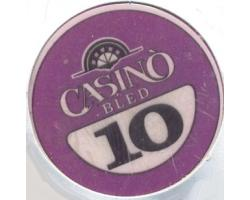 C55545 - Play poker chip, 10 ATS. CASINO BLED 1