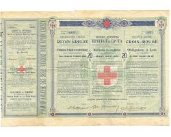 E10126 - Bond of the Serbian Red Cross Society to 20 din. in gol 1